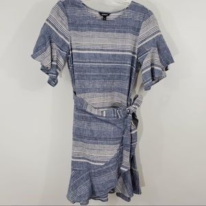Express blue and white dress Size Small
